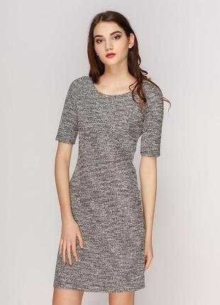 Красивое меланжевое платье