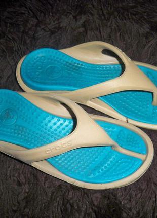 Фірмові крокси crocs оригінал м5 w7 24 см, китай.