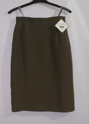 Летняя юбка цвета хаки знаменитого бренда vera mont