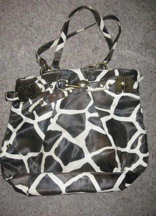 Кожаная сумка с визуальной имитацией под мех пони