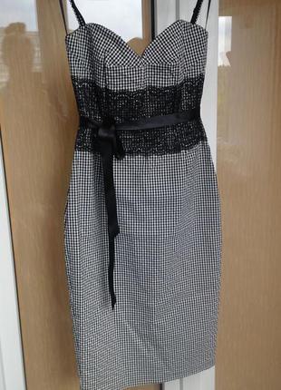 Актуалье платье-корсет с кружевом