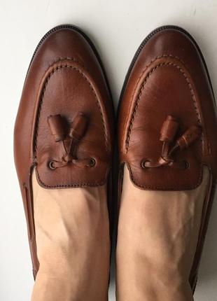 Кожаные лоферы massimo dutti 40-41 размер туфли лофери