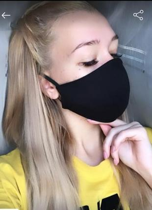 Защитная ,двухслойная, многоразовая маска