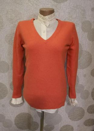 Кашемировый свитер пуловер маленького размера