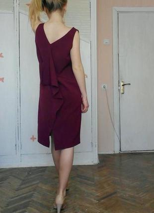 Платье марсала,с очень красивой спинкой