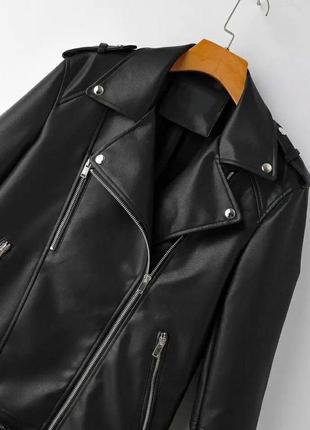 Косуха кожаная куртка удлинённая косуха