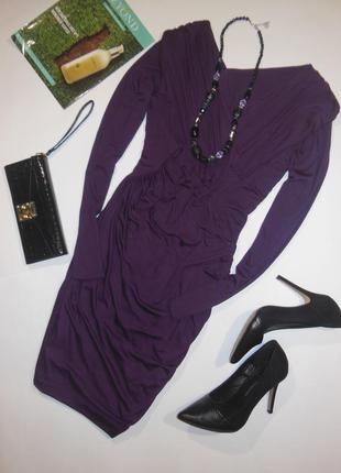 Платье футляр с драпировкой