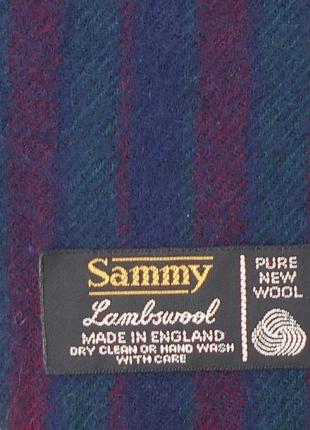 Шерстяной классический шарф sammy англия3 фото