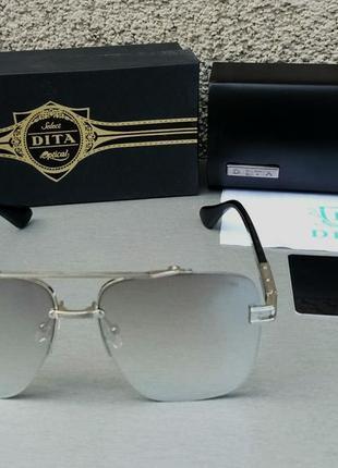 Dita очки женские солнцезащитные серые металлик зеркальные