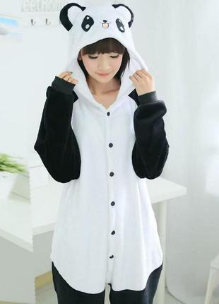 Пижама-комбинезон кигуруми панда- детские взрослые размеры - кенгуруми - кугуруми