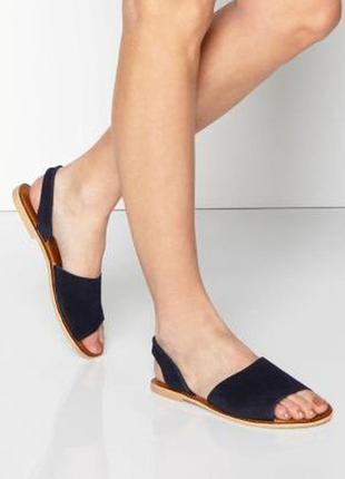 Распродажа! замшевые босоножки, сандалии с открытым носком, р. 38