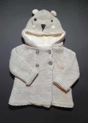 Пальто, куртка, теплая кофта. zara. 9-12 мес., 80 см.