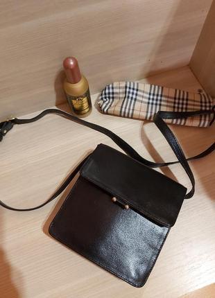 Маленькая кожаная сумочка сумка кроссбоди