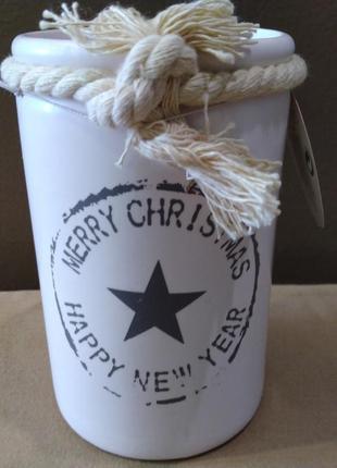 Стильнай керамический подсвечник christmas gift нидерланды.