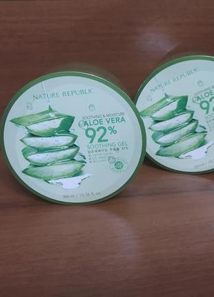 Алоэ-гель nature republic soothing&moisture aloe vera 92% soothing gel