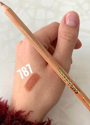 Матовый карандаш miss tais №787 для губ кофейно-бежевый мисс таис чехия