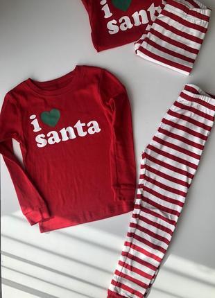 Детская новогодняя пижама carter's