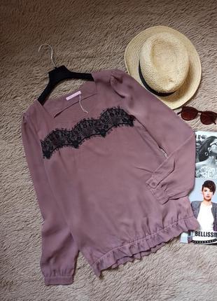 Актуальная блузка с кружевом/блуза/кофточка/рубашка