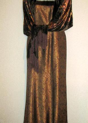 Винтажное вечернее платье vera mont особый случай редкость р 14 для женщин