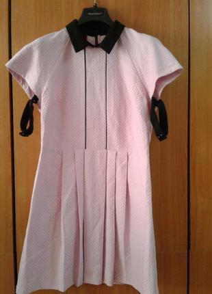 Новое летнее фактурное платье оригинального кроя хлопок размер 12 love label