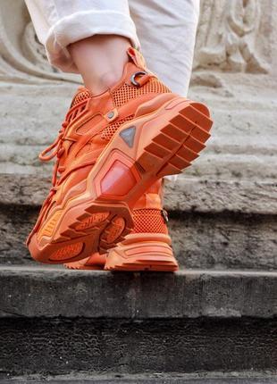 Calvin klein orange premium оранжевые женские кроссовки наложенный платёж купить