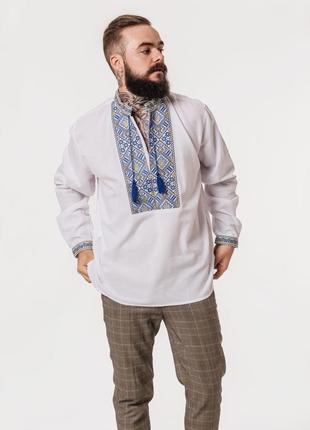 Вышиванка мужская на домотканом полотне. вишиванка чоловіча