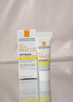 15 пробников солцезащитного для проблемной жирной кожи anthelios corrective 3 мл
