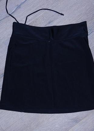 Черная пляжная юбка