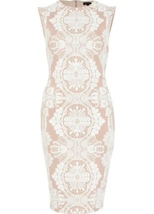 Платье молочного цвета футляр river island размер