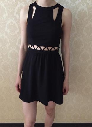 Платье чёрное от h&m , вискоза