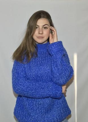 Удлиненный синий свитер  от house, размер xs