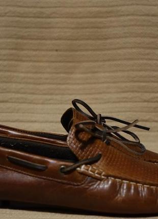 Достойные темно-коричневые кожаные мокасины river island англия 10 р.( 28,5 см.)