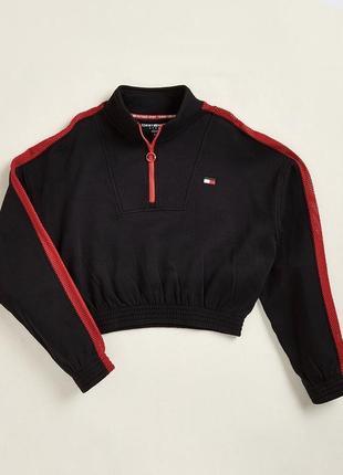 Укорочённая флисовая  куртка m tommy hilfiger