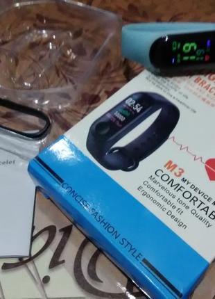 Smart bracelet m3 (фитнес браслет-часы) intelligence health bracelet