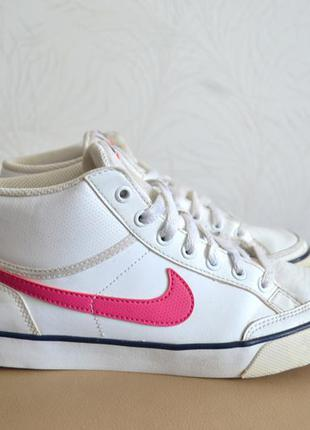 Nike capri 3 mid 580411-100 женские кроссовки белые найки