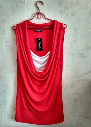 Очень красивая яркая блуза из вискозы, большой размер, батал 48-50-52