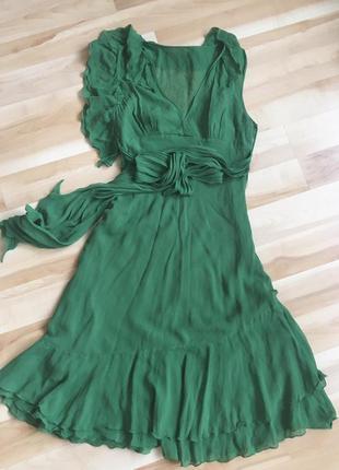 Платье bcbg max azria натуральный шелк