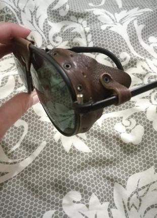 Очки с кожаными елементами