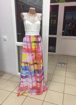 Вечернее выпускное платье  манго  с - м
