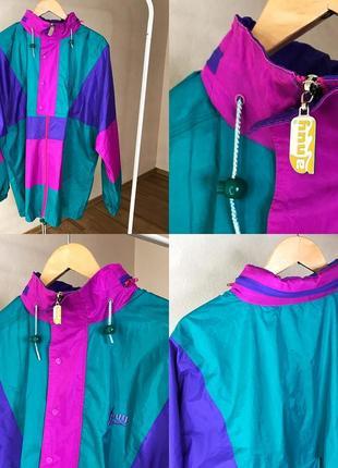Куртка ветровка из 90х дождевик винтаж винтажная куртка 90е 80е