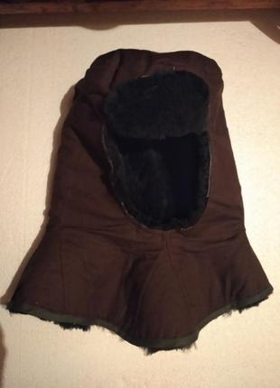 Шапка - шлем армейского образца из натуральной цыгейки. швейцария. размер 57 - 58