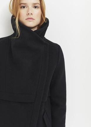 Новая косуха из шерсти ikks, франция куртка короткое пальто полупальто шерсть 80%