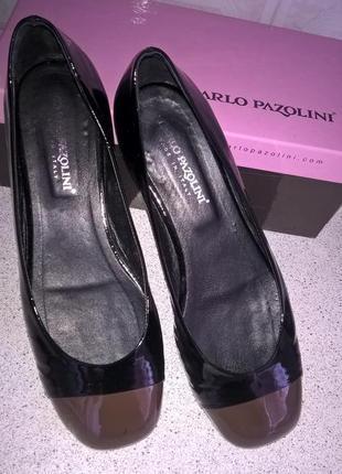 Итальянские лаковые туфли-балетки carlo pazolini
