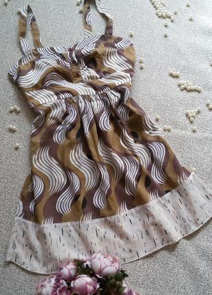 Летнее платье сарафан на тонких бретелях