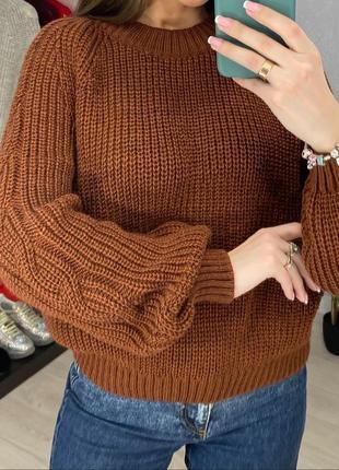 Кирпичный свитер из шерсти