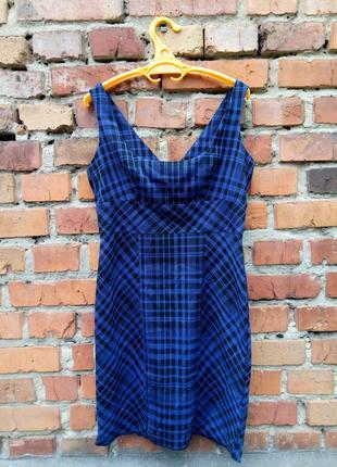 Короткое платье в клеточку asos