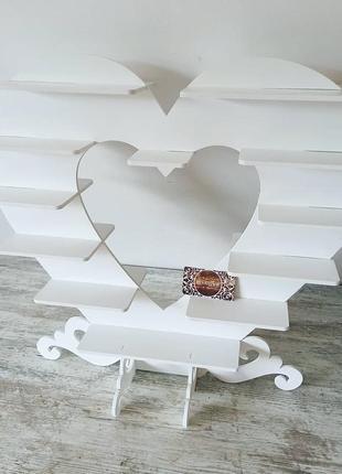 Подставка для капкейков сердце кенди бар підставка серце дерево текст кенди