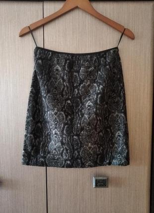 💐брендовая актуальна юбка в анималистический принт . в составе шерсть💐