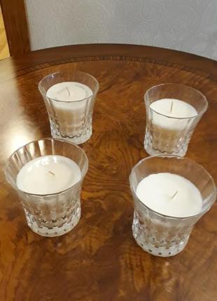 Хрустальные подмвечники-стаканы