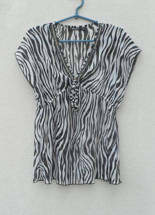 Летняя легкая блузка молодежная без рукавов
